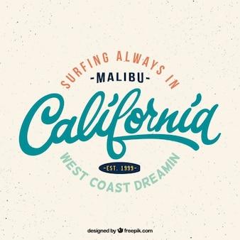 Emblema da ressaca de califórnia vintage