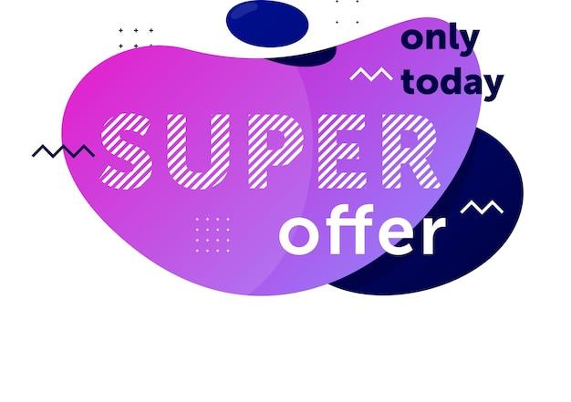 Emblema da super oferta apenas hoje isolado no fundo branco