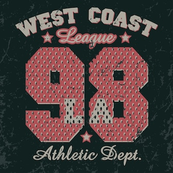 Emblema da tipografia california sport wear