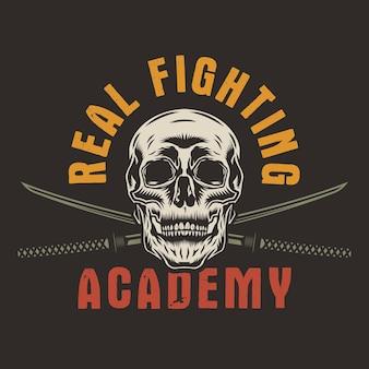 Emblema de artes marciais mistas do clube da luta de mma