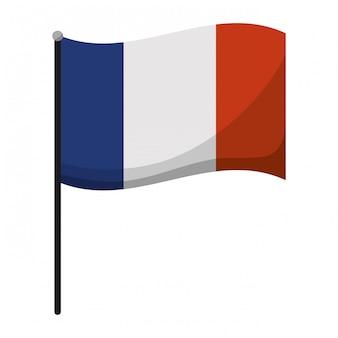 Emblema de bandeira da frança