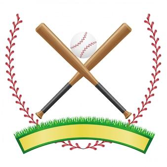 Emblema de bandeira de beisebol