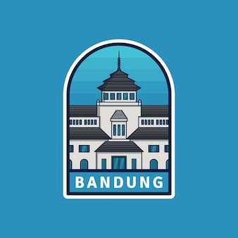 Emblema de bandung da cidade de indonésia