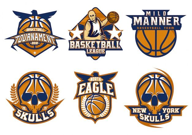 Emblema de basquete de ações