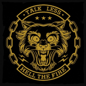 Emblema de cabeça de pantera