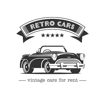 Emblema de carro retrô