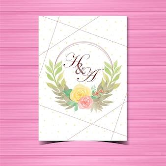 Emblema de casamento floral bonito