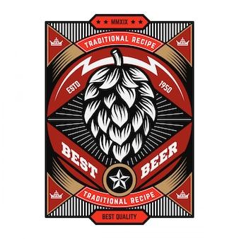 Emblema de cerveja do vintage