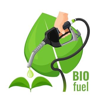 Emblema de conceito de biocombustível