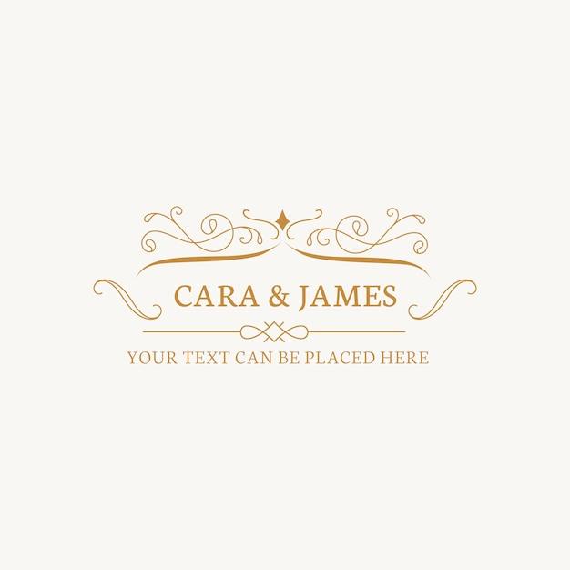 Emblema de convite de casamento