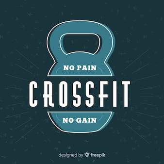 Emblema de crossfit com frase motivacional