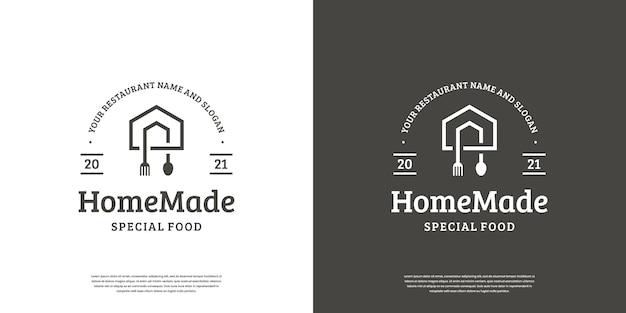 Emblema de design de logotipo de comida vintage retrô