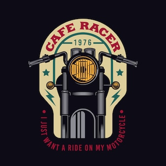 Emblema de emblema vintage personalizado de motocicleta cafe racer