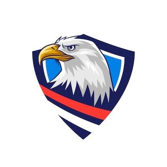 Emblema de escudo de águia careca americana