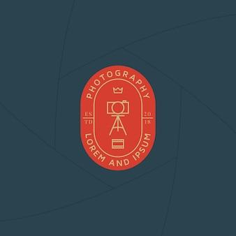 Emblema de estúdio de fotógrafo ou rótulo