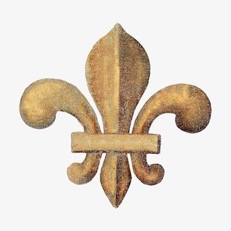 Emblema de explorador ouro vintage