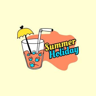 Emblema de férias de verão