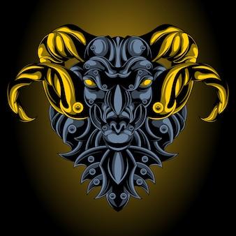 Emblema de ferro aries