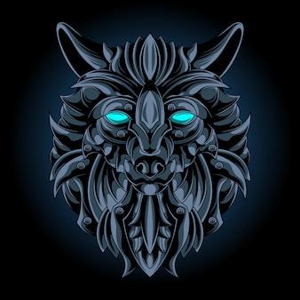 Emblema de ferro lobo