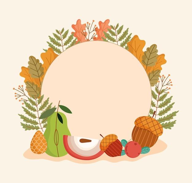 Emblema de folhas de outono