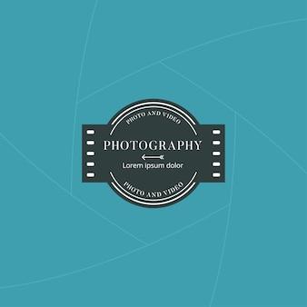 Emblema de fotografia e filme ou rótulo