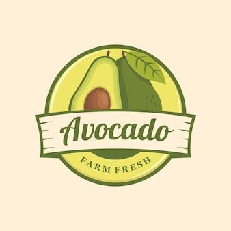 Emblema de logotipo de abacate