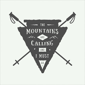 Emblema de logotipo de aventura
