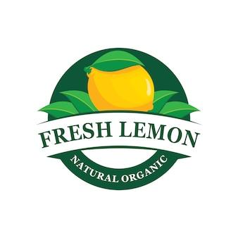 Emblema de logotipo de fazenda de limão