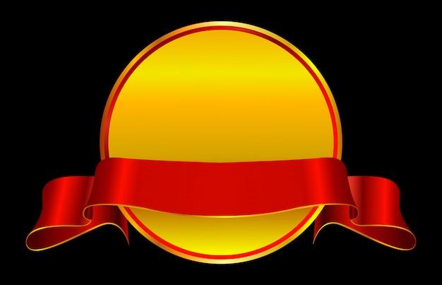 Emblema de luxo com fita