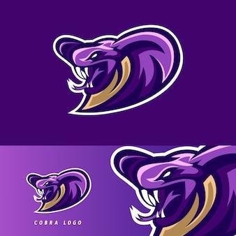 Emblema de mascote de jogo cobra esport