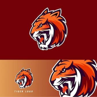Emblema de mascote de jogo esport de tigre