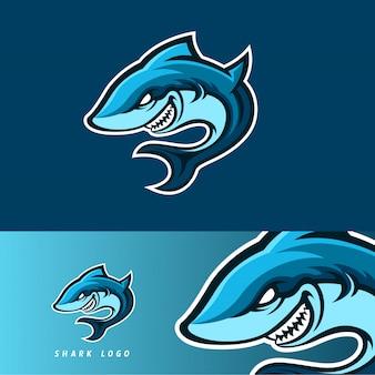 Emblema de mascote de jogo esport tubarão