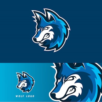 Emblema de mascote de jogo lobo esport