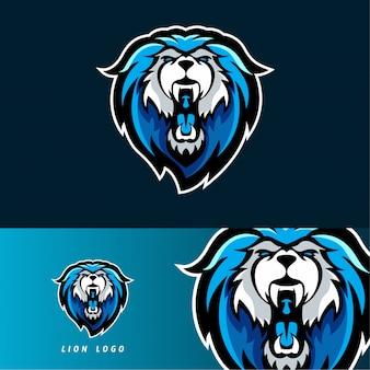 Emblema de mascote de jogos esport de leão