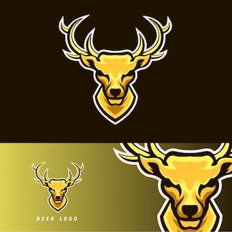 Emblema de mascote de jogos esport de veados