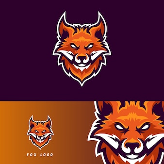 Emblema de mascote de jogos esportivos fox