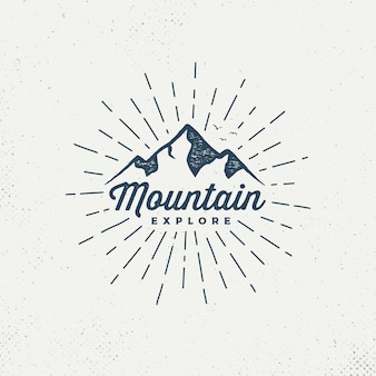 Emblema de montanhas de vetor.
