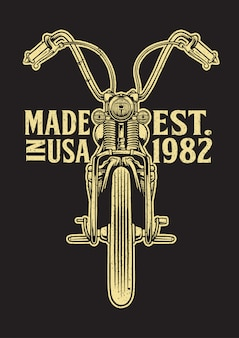 Emblema de motocicleta de helicóptero