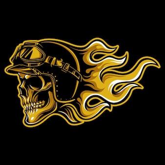 Emblema de motociclista crânio vintage