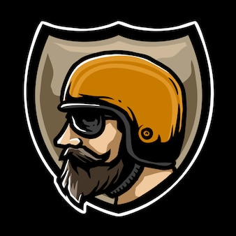 Emblema de motociclista
