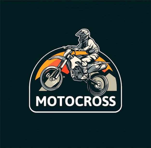 Emblema de motocross