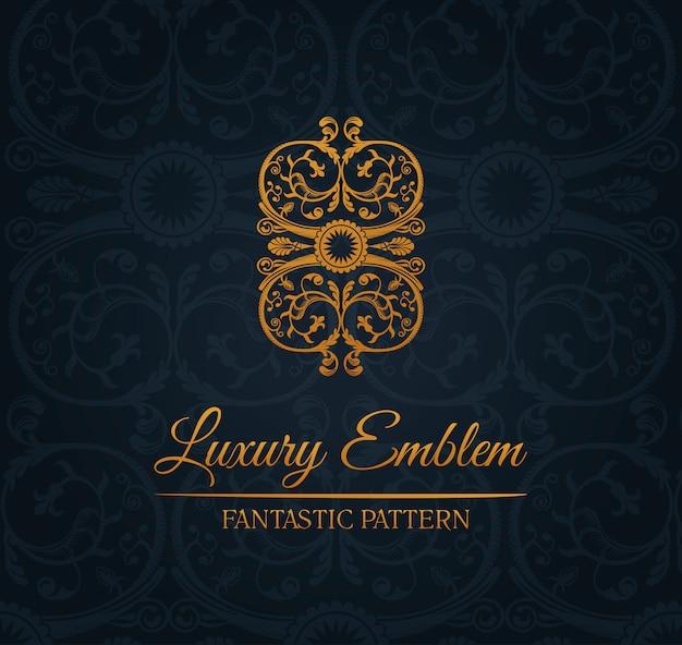 Emblema de ornamento de logotipo decoração vintage