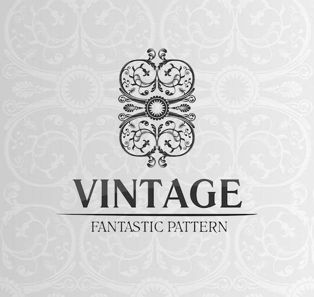 Emblema de ornamento de rótulo de decoração vintage