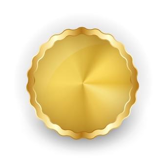 Emblema de ouro abstrato