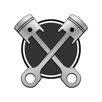 Emblema de pistões cruzados
