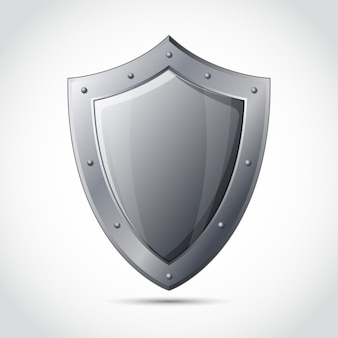 Emblema de proteção comercial em branco