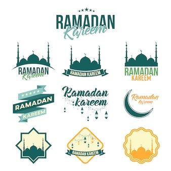 Emblema de ramadan kareem