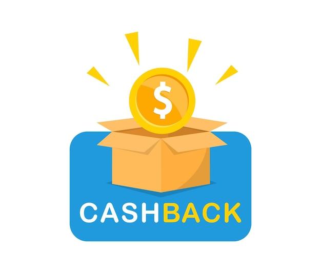 Emblema de reembolso modelo de logotipo de devolução de dinheiro ícone de devolução de dinheiro de bônus