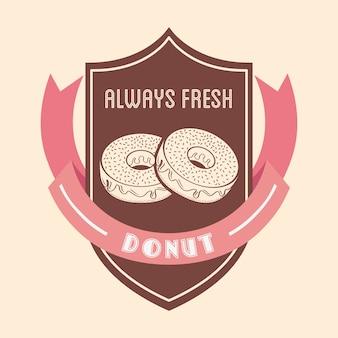 Emblema de rosquinhas doces