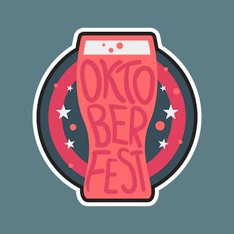 Emblema de rotulação de oktoberfest